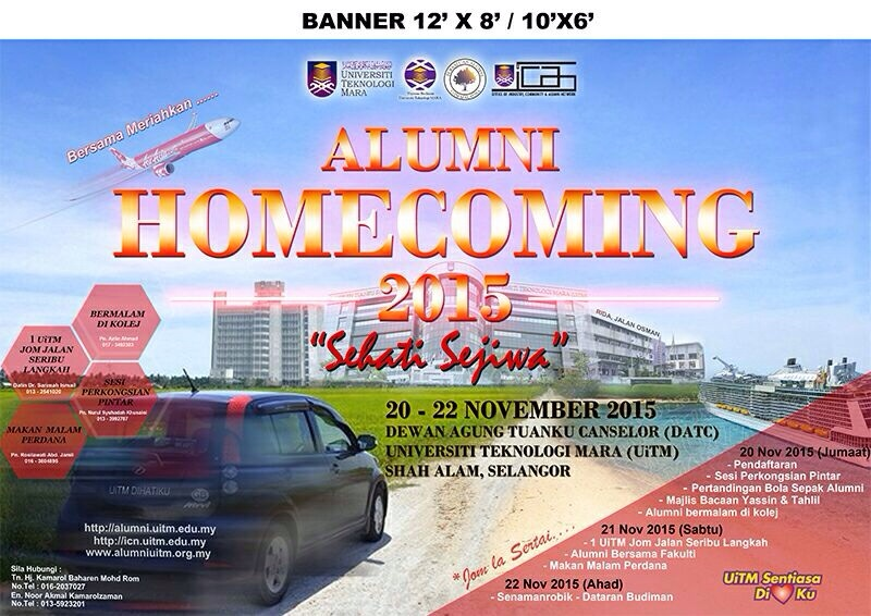 uitm home coming 2015